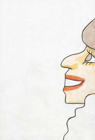 黒柳徹子似顔絵イラスト画像