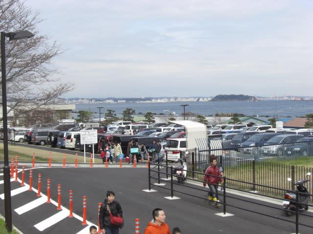 走水海岸の駐車場