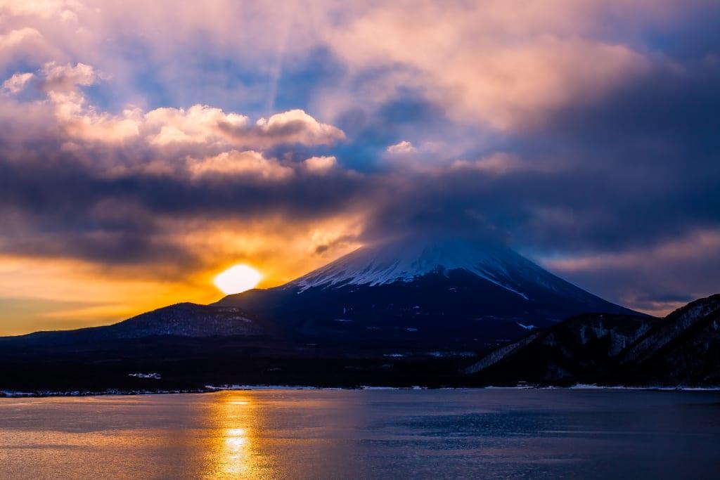 富士山(本栖湖から)の写真