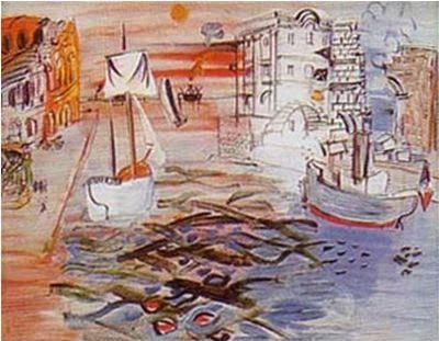 デュフィ:帆船のある港