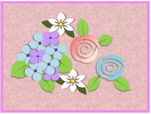 ワードでイラストの花を 気まぐれブログ
