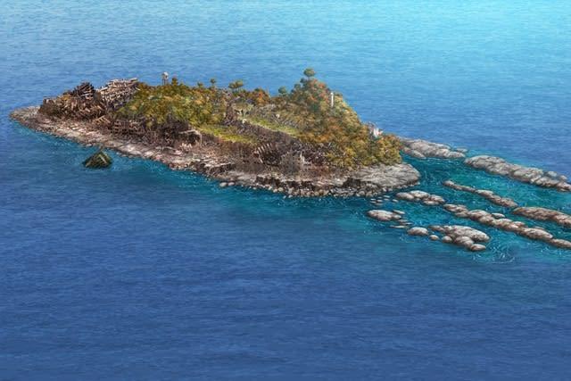 軍艦島未来予測図100年後