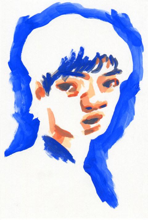 宇野昌磨選手の似顔絵イラスト画像