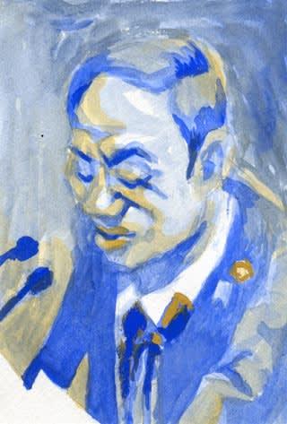 菅義偉総理似顔絵画像