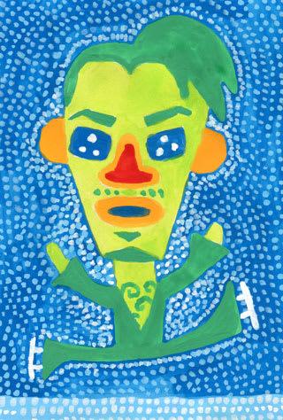 高橋大輔の似顔絵イラスト画像
