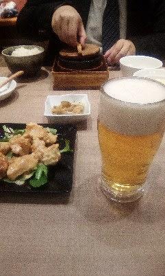 息子と晩飯
