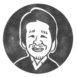 泉麻人の似顔絵