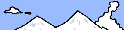 雪山 イラスト シンプルイラスト素材