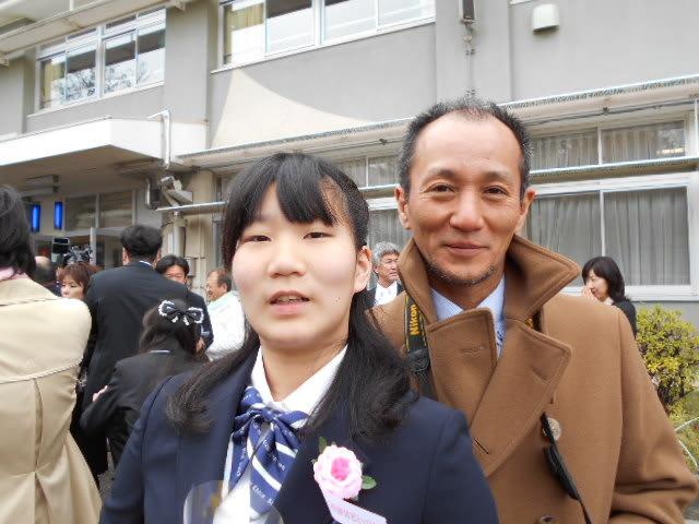 娘の卒業式に参加 - 電気屋さん...