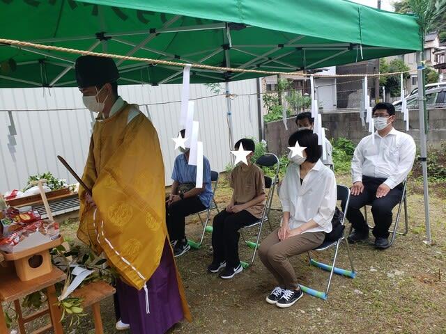 高知市のMさん邸の地鎮祭の様子です。 | 高知・岡山で新築一戸建てを建てるならサンブランドハウス