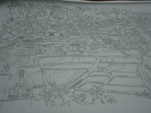大人の塗り絵と旅の思い出 その① 白川郷合掌集落の絵 ふさ子のブログ
