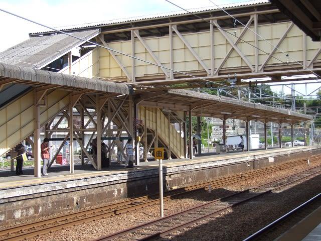 JR宮島口駅の跨線橋 - 『はつか...