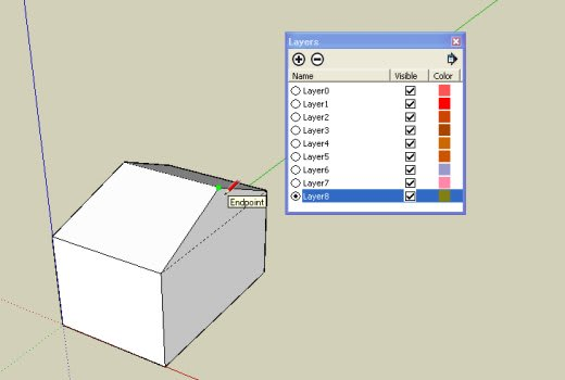 how to add a layer in sketchup