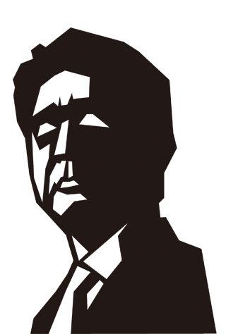 安倍晋三首相の似顔絵