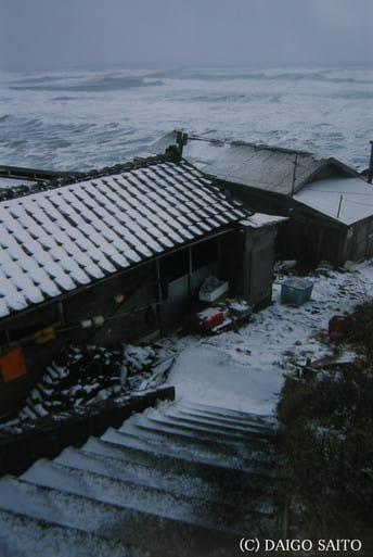 冬の日本海岸