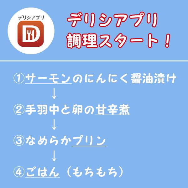 デリシアプリ_調理の手順