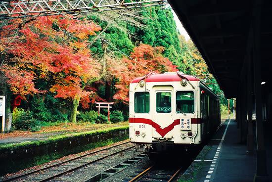 京福電鉄・永平寺駅の秋(1992年...