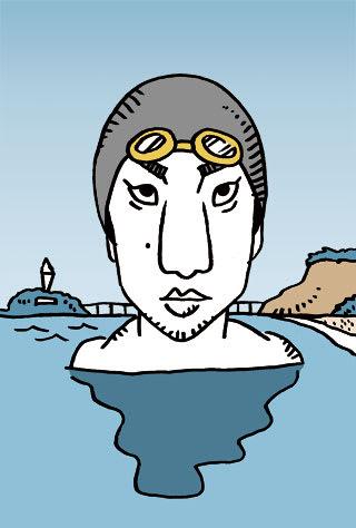 立石諒の似顔絵イラスト画像