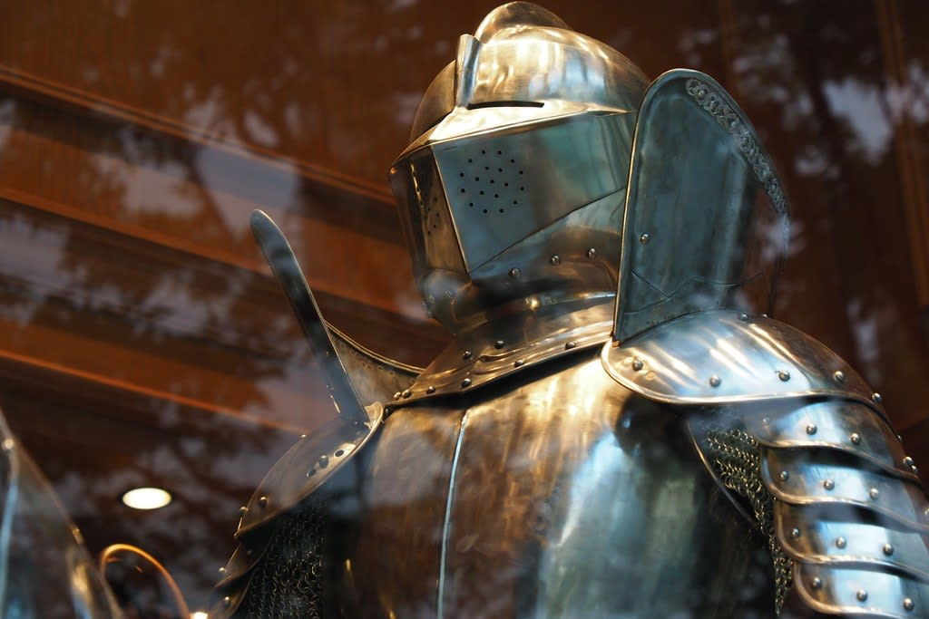 a knight encased in armor digital image processing