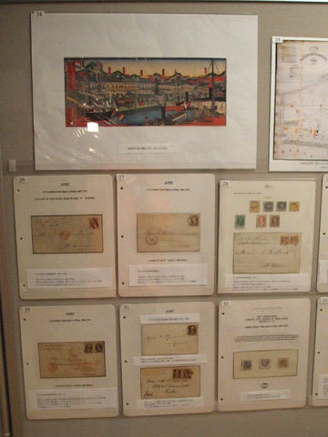 神戸に関する切手・絵はがき等の郵便資料の展示