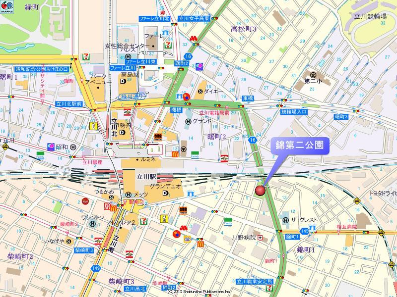 錦第二公園の地図