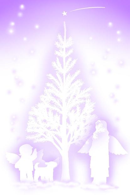 クリスマスイラストもみの木と星と けろりんネットワークgoo