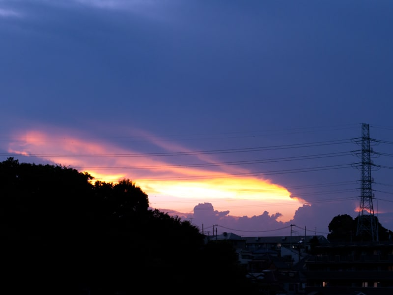 08月22日 夕陽