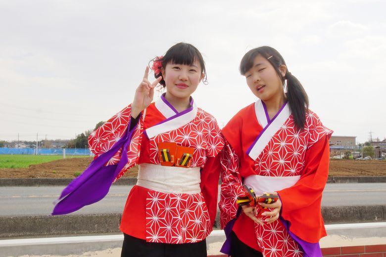 山村国際高等学校鳴子連in聖天宮...