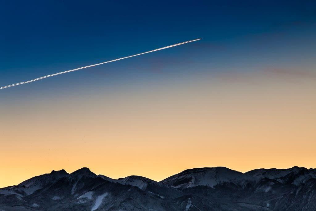 夜明けの八ヶ岳の写真