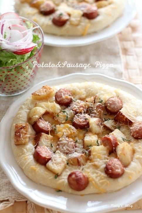 ポテトとソーセージのピザ - マイティの Awesome Cooking