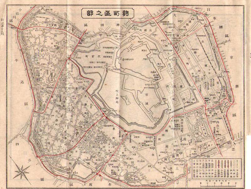 B-67 東京区分地図第十六版明治43年刊.携帯地番入 - 文化歴史資料 ...