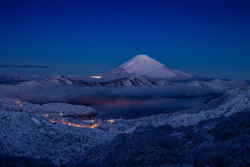 箱根大観山より富士山の写真