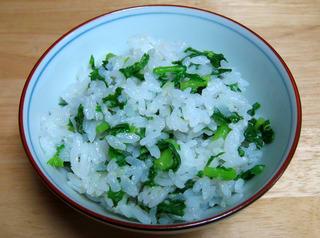 大根葉の美味しさが前面に出た菜飯