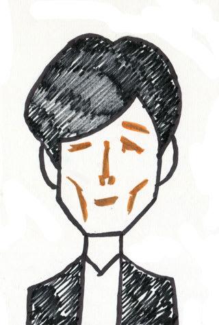高橋一生の似顔絵
