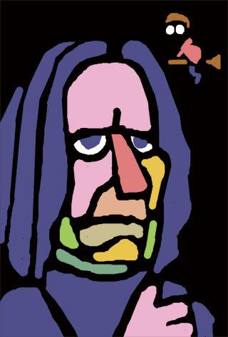 アラン・リックマンの似顔絵