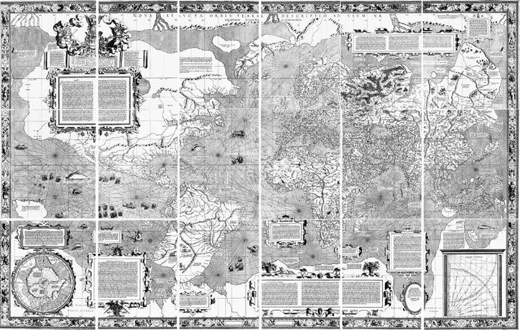 1563年の世界地図 こんな時代も...