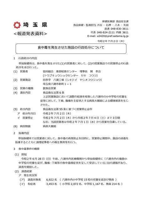 県 市 食中毒 八潮 埼玉