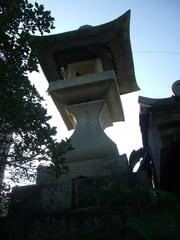 神辺町川南の常夜灯(天保六年の銘あり)