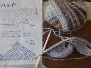 [ 編み図不要・手編みの帽子。白樺編み・バスケット編み・ベレー帽・ニット帽 ] |  e - 楽天ブログ