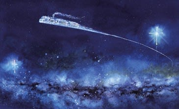夜 イラスト 銀河 鉄道 の