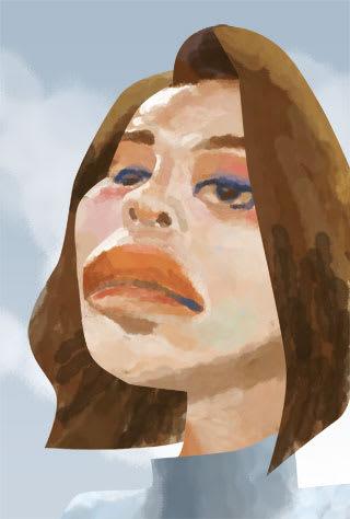 水原希子の似顔絵
