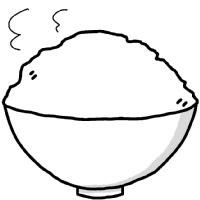 お米 ご飯 イラスト シンプルイラスト素材