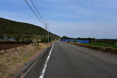 浜脇の土地改良団地の県道581号線
