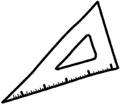 三角定規 イラスト シンプルイラスト素材