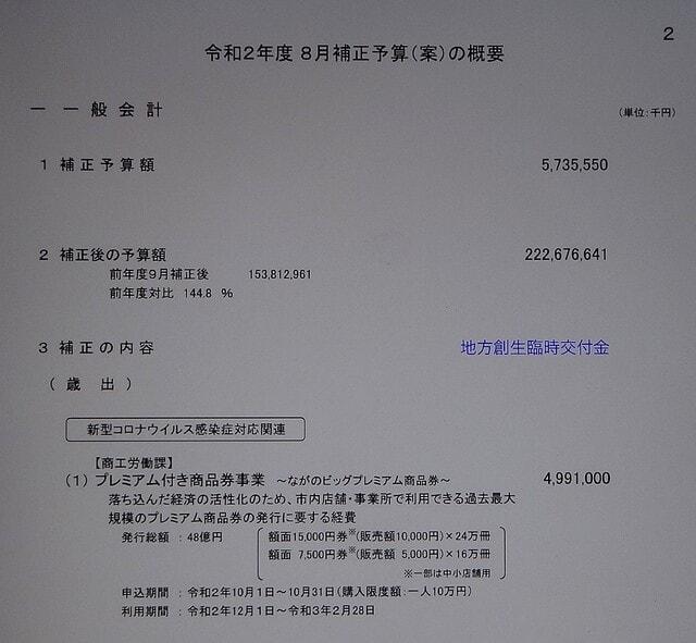 長野 市 プレミアム 商品 券 2020