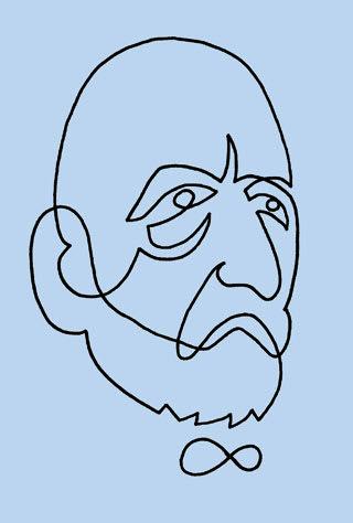 ゲオルク・カントールの似顔絵