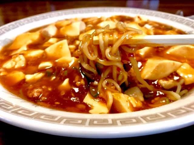 上海「汁なしマーボー(麺は冷やし)」