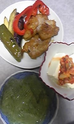 今夜は『新生姜の豚肉包み焼き』