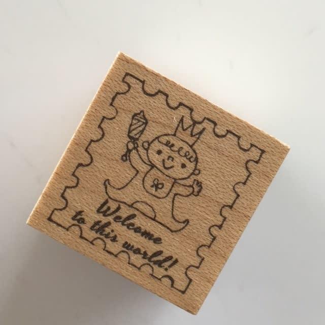 切手*あかちゃん♪台木サイズ2.5*2.5cm