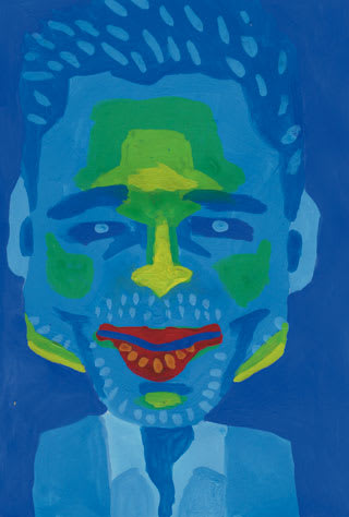 ブラッド・ピットの似顔絵イラスト画像